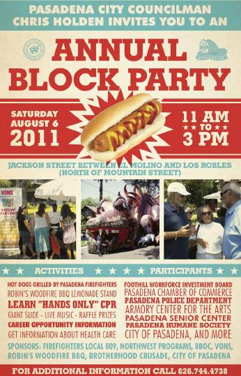 Chris Holden Sponsors Block Party For District 3