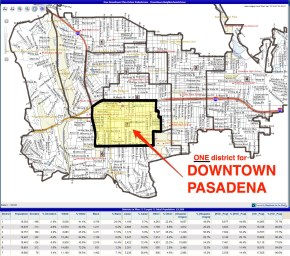 One Council District for Downtown Pasadena DPNA