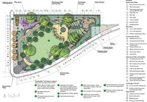 """Playhouse Park"" design by Korn Randolph, for corner of El Molino & Union St."