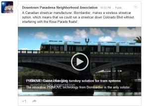 Bombardier Primove Wireless Electric Streetcar