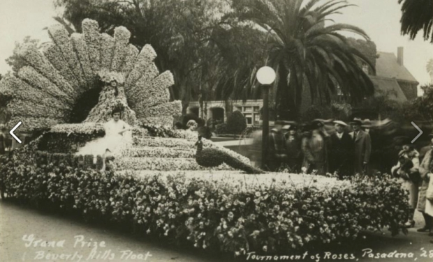 City of Beverly Hills - 1928 Rose Parade float (courtesy of the Beverly Hills Historic Preservation Facebook group)