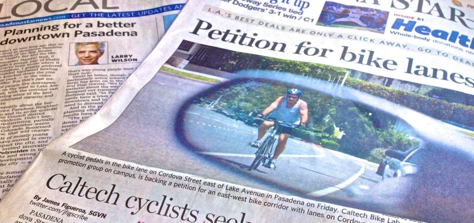 Caltech Bike Lab circulates petition for better East-West bike routes