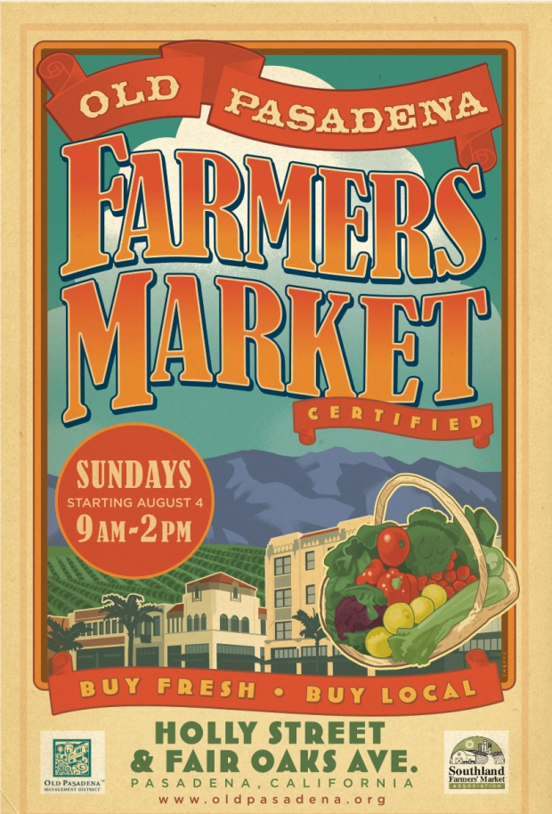 Artist Paul Rogers designed and created the gorgeous new poster announcing the Market. Rogers has also designed posters for the U.S. Open, London Olympics, and many other book and magazine covers, and even a postage stamp.