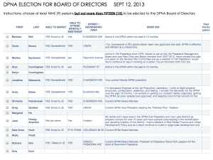 Click to view the ballot for the DPNA Board of Directors election