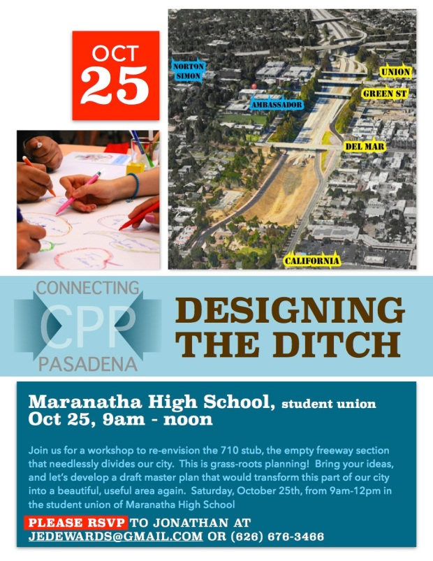Renowned architect and urbanist Stefanos Polyzoides will lead two sequential visioning workshops Saturday, October 25 and Saturday, November 8, 9-noon at Maranatha High School.