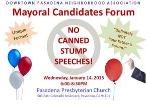DPNA Mayoral Forum Flyer