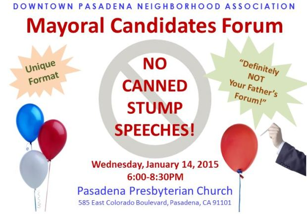 DPNA Mayoral Forum Flyer