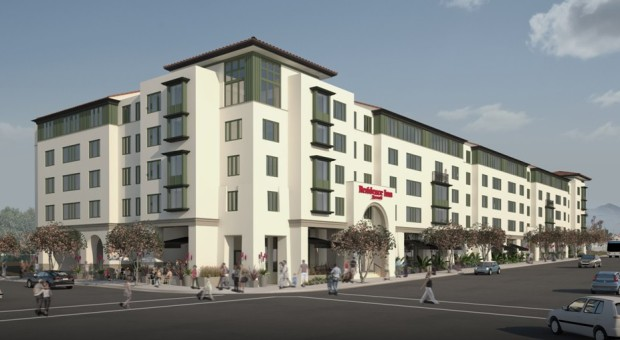 """""""Out"""" sketch of the recent Marriott project"""