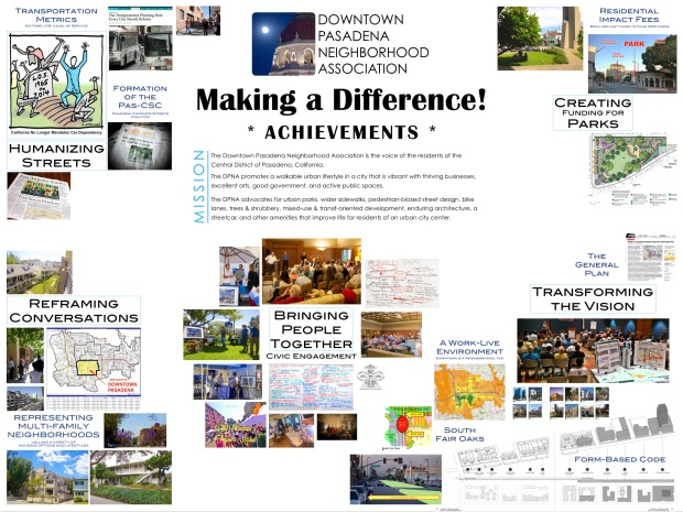 """Making a Difference"" exhibit. A summary of achievements that the DPNA has gained over the course of the last 2-3 years, as a result of our advocacy."